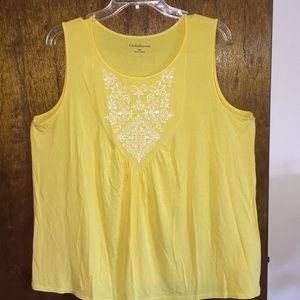 Women's size xl Croft & barrow float summer top